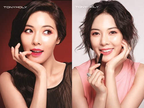 Hyuna will be shown in all Tony Moly shops not only in Korea but also all overseas stores as well. (image: Tony Moly)