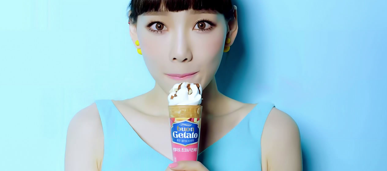 Colorful Girls' Generation ads Promote 'Sexy' Gelato