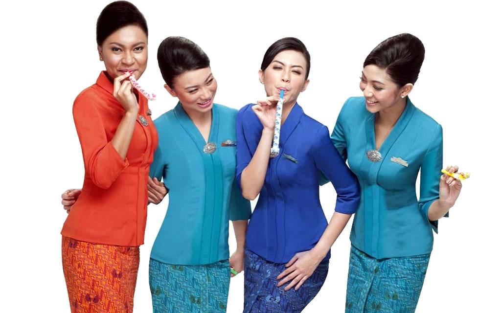 Garuda Indonesia -the best cabin staff in the world.