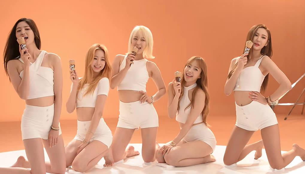 South Korea Sexy EXID Ice Cream