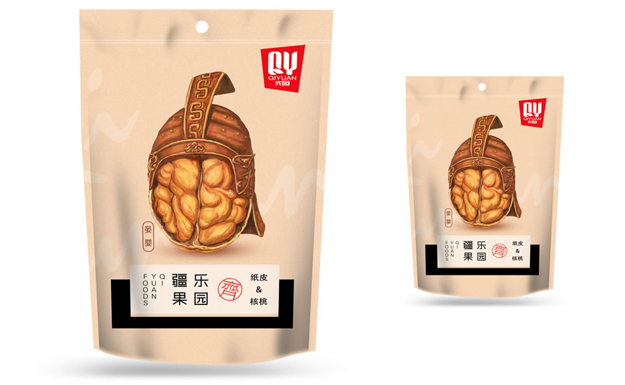 Brand Element Design: Royal Nuts – Qi Yuan Foods from China