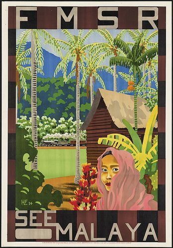 Vintage Malaysia Travel Posters - Branding in Asia 11