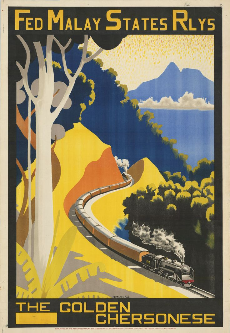 Vintage Malaysia Travel Posters - Branding in Asia 12