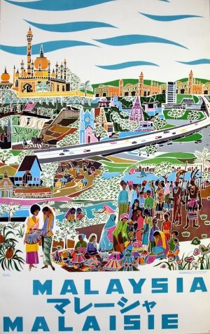 Vintage Malaysia Travel Posters - Branding in Asia 3