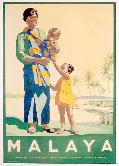 Vintage Malaysia Travel Posters - Branding in Asia 4