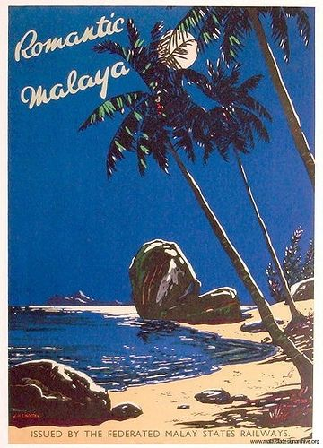 Vintage Malaysia Travel Posters - Branding in Asia 9