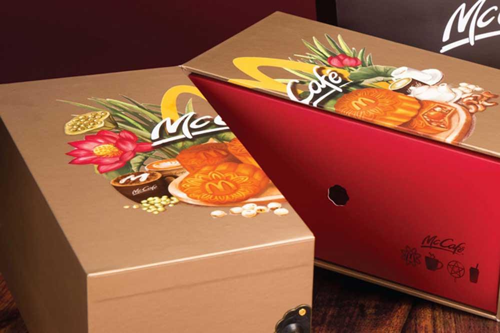 brand element design  mcdonald u0026 39 s vietnam mooncake box 2017