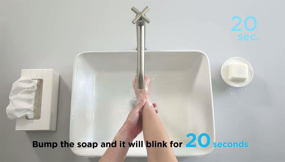 Dentsu One Bangkok Creates Soap that Flashes to Make Sure You Wash Long Enough