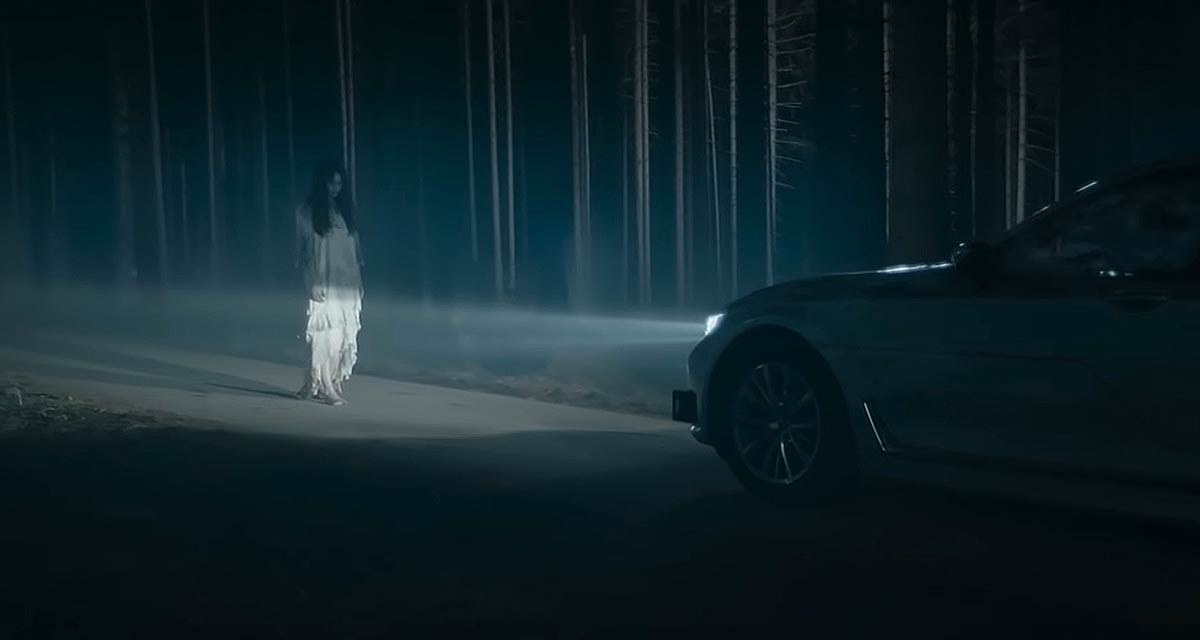 Ghost is Terrified of Self Driving Car in Funny BMW Ad