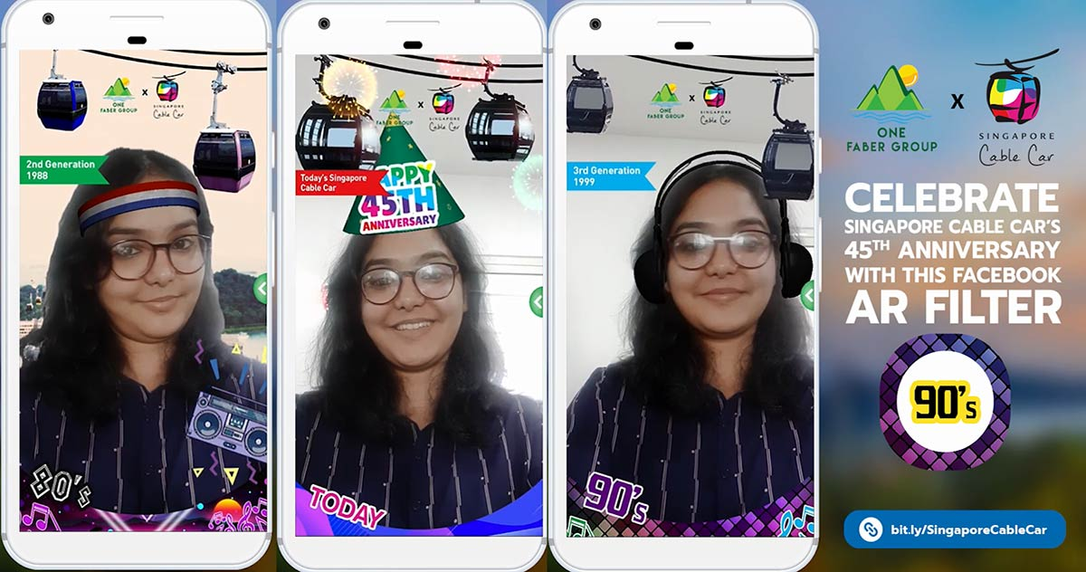 Singapore Cable Car Celebrates 45th Anniversary With Nostalgic Facebook AR Experience