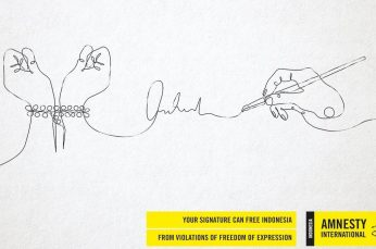 Amnesty International Indonesia Turns Petition Signatures into Powerful Art