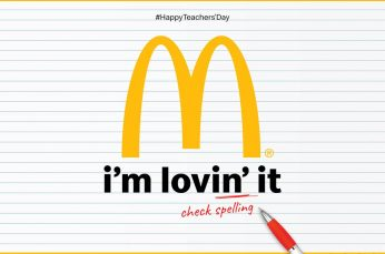 McDonald's 'I'm Lovin' It' Gets Grammar Checked for Teachers Day in India