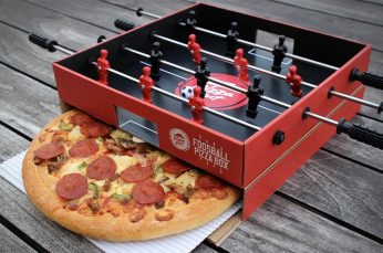 Pizza Hut Launches Foosball Pizza Box in Hong Kong