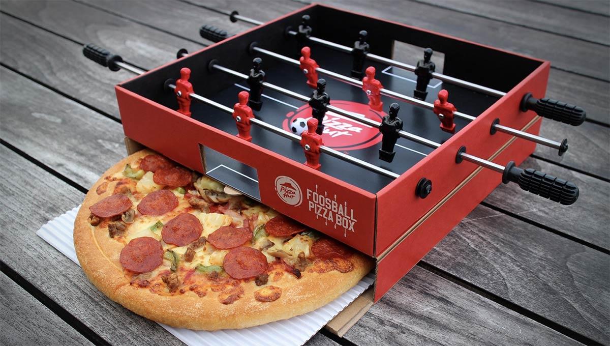 Pizza Hut Launches Foosball Pizza Box in Hong Kong