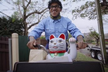 A Lucky Cat Goes on an Adventure For Lucky Nuts in Select Harvest Campaign