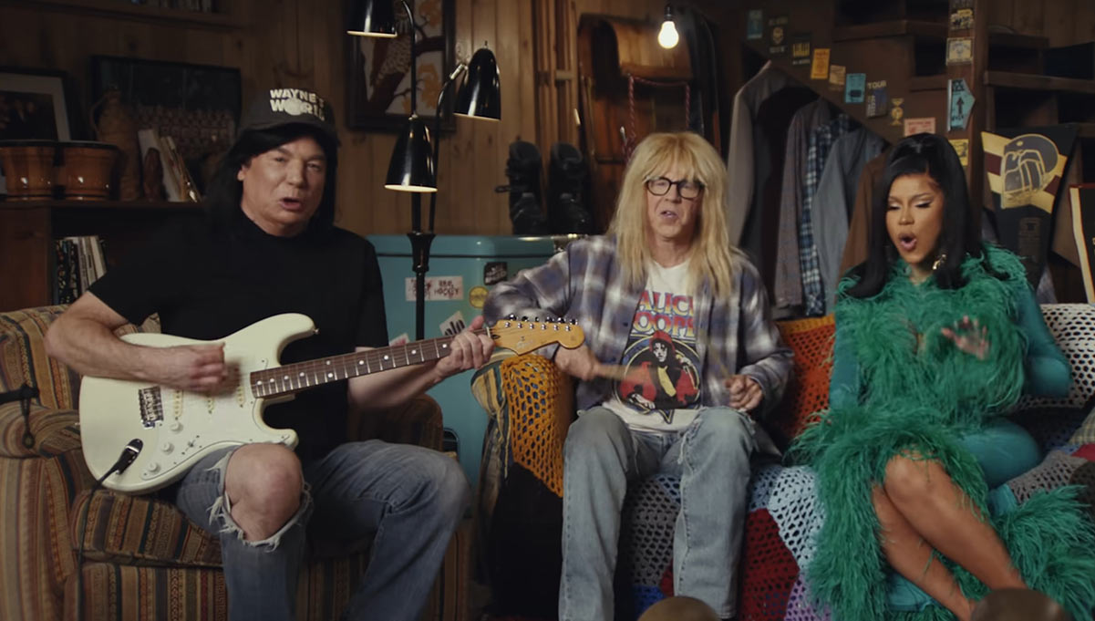 Wayne's World Triumphantly Returns to Not So Shamelessly Plug Uber Eats and Eating Local